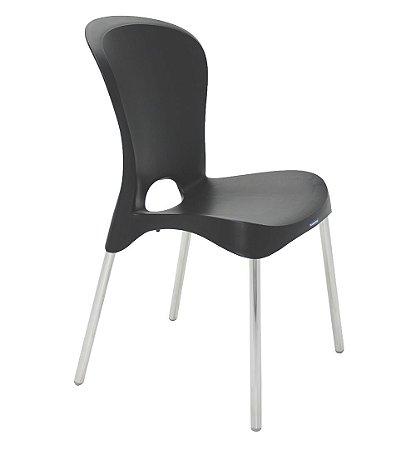 Cadeiras Sem Bracos Pernas Polidas Summa Tramontina Preto 55 Cm