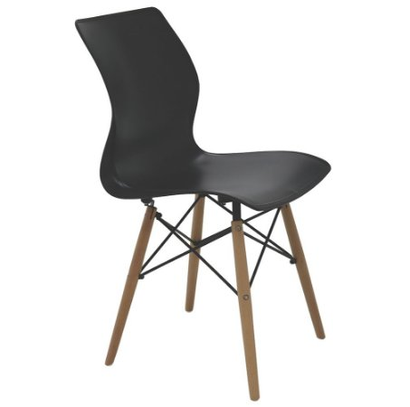 Cadeira em Polipropileno Base de Madeira Summa Tramontina Preto 56 Cm