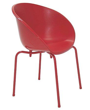 Cadeira em Polipropileno Pernas Aco Pintado Summa Tramontina Vermelho 54 Cm