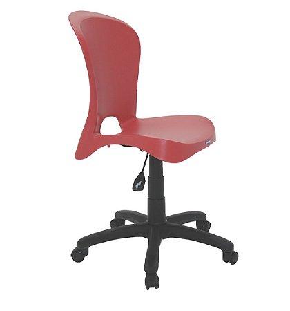 Cadeira com Rodizio em Polipropileno Summa Tramontina Vermelho 60 Cm
