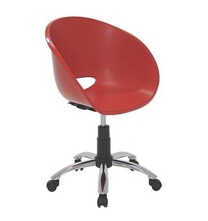 Cadeira com Rodizio em Polipropileno Summa Tramontina Vermelho 63 Cm