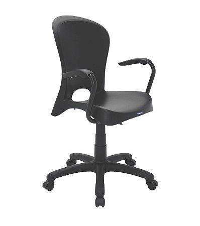 Cadeira em Polipropileno com Rodizio Summa Tramontina Preto 96 Cm