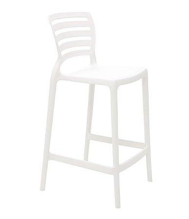 Cadeira Alta em Polipropileno Summa Tramontina Branco 94 Cm