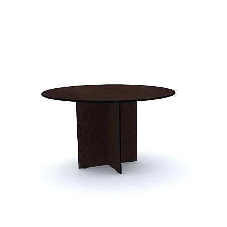 Mesa para Escritorio de Reuniao Redonda Maxxi Pandin Tabaco e Preto  1,10 M