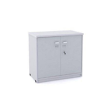 Armario Baixo 02 Portas de Aco Arena Pandin Cinza Cristal 73 Cm