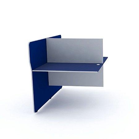 Complemento Estacao de Telemarketing Dupla Maxxi Pandin Azul e Cinza  1,20 M