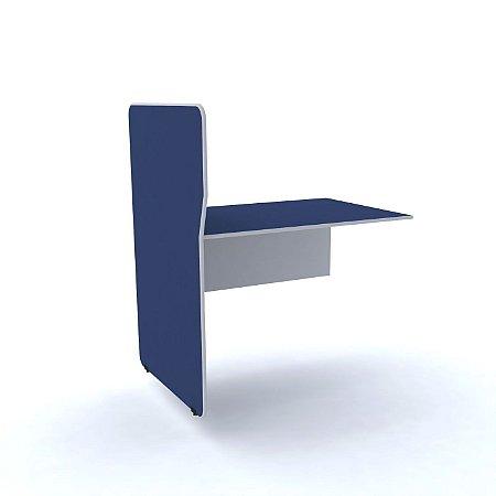 Complemento Estacao de Atendimento Simples Maxxi Pandin Azul e Cinza  1,20 M