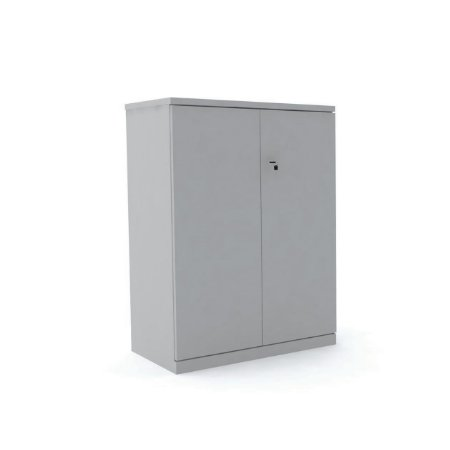 Armario de Madeira Medio Corporativa Pandin Cinza Cristal  1,10 M
