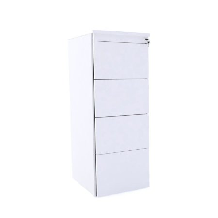 Arquivo de Madeira com 04 Gavetas Corporativa Pandin Branco  1,30 M