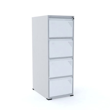 Arquivo Especial de Aco 04 Gavetas Pandin Cinza e Branco  1,35 M