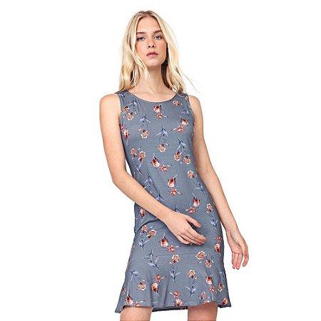 Vestido Curto Floral Azul - Malwee