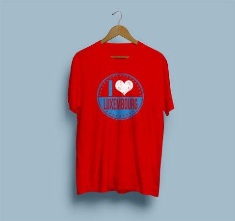 Camisa Básica I Love Luxembourg