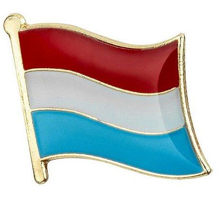 Pin de lapela Bandeira de Luxemburgo