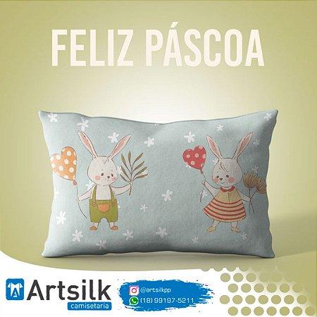 Capa de Almofada Coelho e Coelha