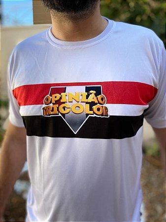 Camisa Opiniao Tricolor - Branca
