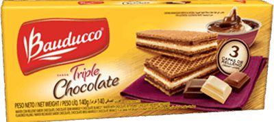 WAFER BAUDUCCO 140GR TRIPLO CHOCOLATE