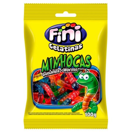 BALA FINI 100GR MINHOCAS