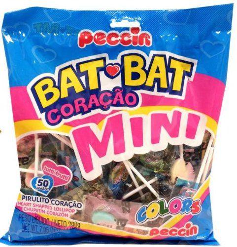 PIRULITO PECCIN 200GR BAT BAT CORAÇÃO MINI