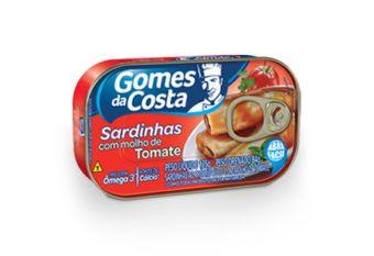 SARDINHA GOMES DA COSTA 125GR MOLHO DE TOMATE