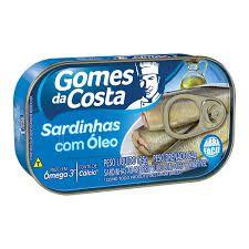 SARDINHA GOMES DA COSTA 125GR ÓLEO