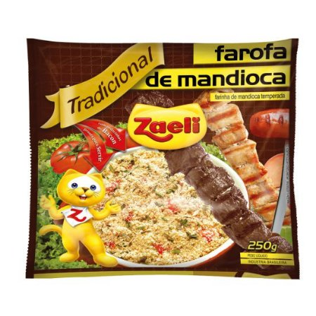 FAROFA ZAELI MANDIOCA TRADICIONAL 250GR