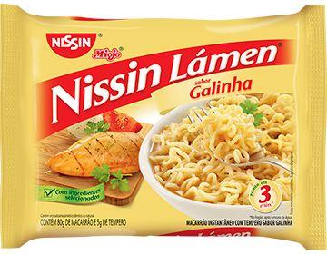 MIOJO NISSIN LÁMEN GALINHA 80GR
