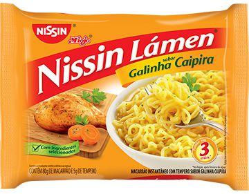 MIOJO NISSIN LÁMEN GALINHA CAIPIRA 80GR