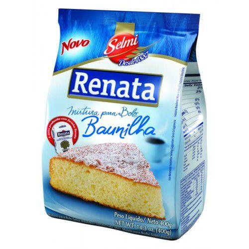 MISTURA PARA BOLO RENATA SABOR BAUNILHA 400GR PACOTE