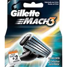 CARGA GILLETTE MACH 3 C/2 NORMAL