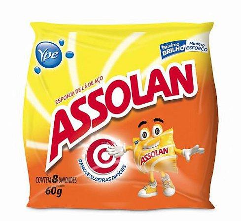 ESPONJA DE AÇO ASSOLAN C/8