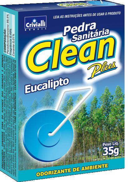 DESODORIZADOR SANITÁRIO EM PEDRA CLEAN PLUS EUCALIPTO 35GR