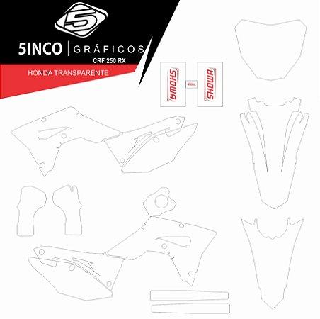 Adesivo de Suspensão Showa + Kit Adesivo Transparente CRF 250RX 2019