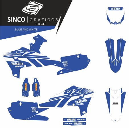 Kit Adesivo 3M Blue And White YZ 450F