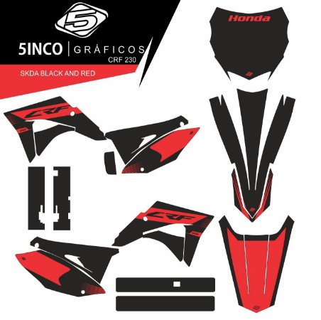 KIT SKDA BLACK AND RED CRF_230 + PLASTICOS