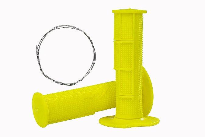 Manopla Pro Amx Flexível Top - Amarelo Neon