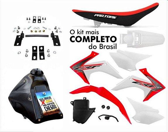 Kit Plastico Protork CRF 230 2015 - 2019 Adaptável Xr 200 Tornado Original