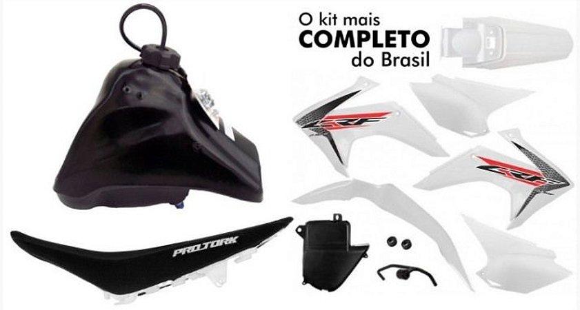 Kit Plastico Crf 230 2018 Protork Adaptável Xr 200 Tornado Branco