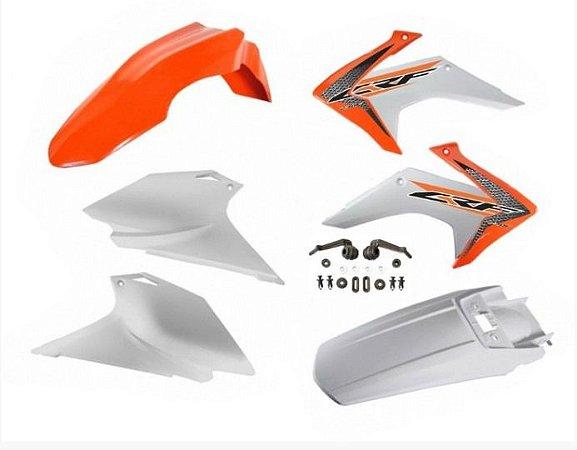 Kit Plástico Avtec Crf 230 2015 - 2018 Laranja