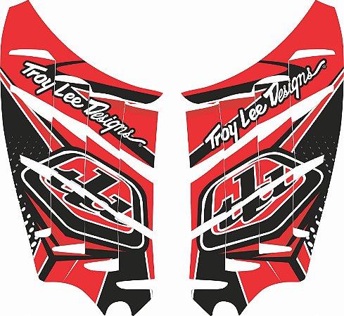 Adesivo de Radiador Para CRF 250 F - Nacional - Biker - Troy Lee
