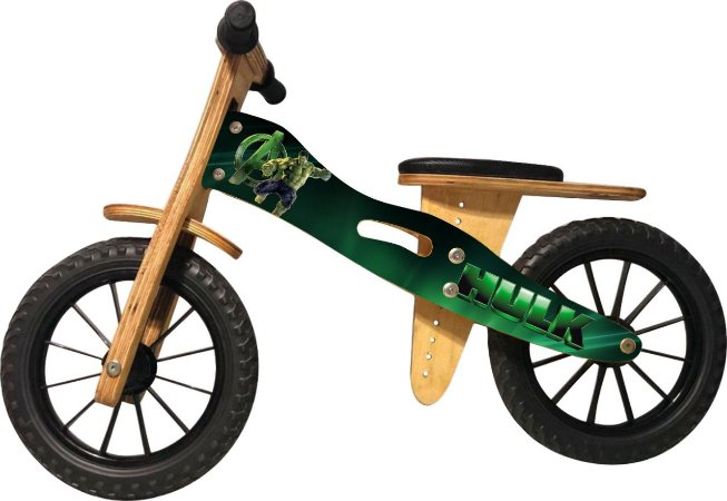 Bicicleta Infantil De Madeira Aro 12 - Hulk