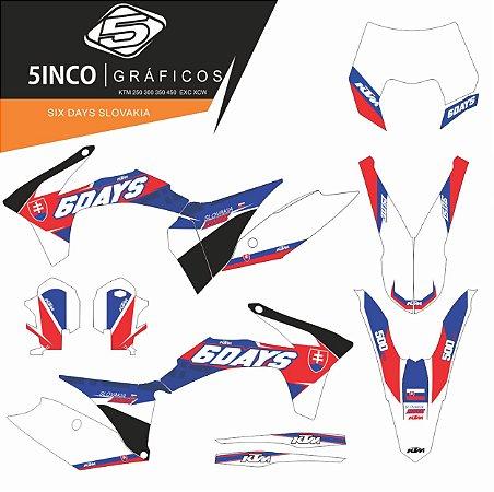 Kit Adesivo 3M Six Days Slovakia KTM 250 EXC 2011/12