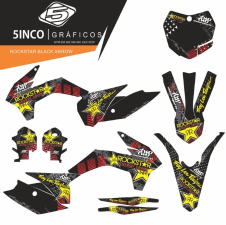 Kit Adesivo 3M  Rockstar Black Arrow KTM 250 SXF 2015