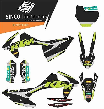 Kit Adesivo 3M  Black Fluor KTM 250 2016