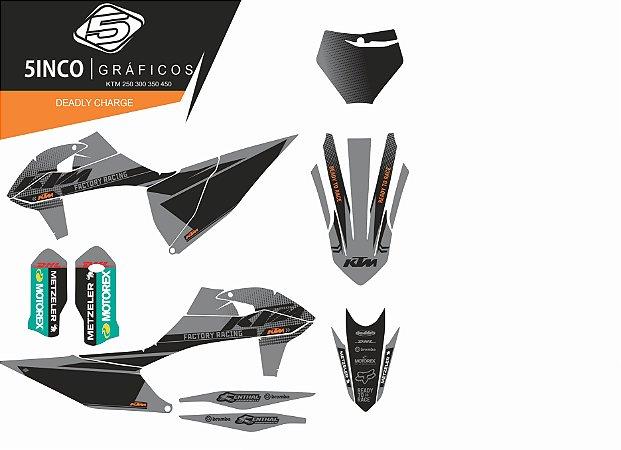 Kit Adesivo 3M  Cool Racing Ktm 250 300 350 450 Exc Xcw