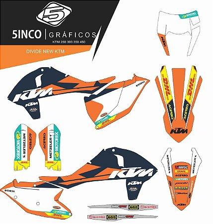 Kit Adesivo 3M Divine New KTM 350 2018