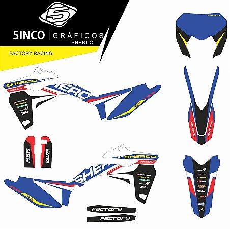 Kit Adesivo 3M Factory Racing SHERCO 300