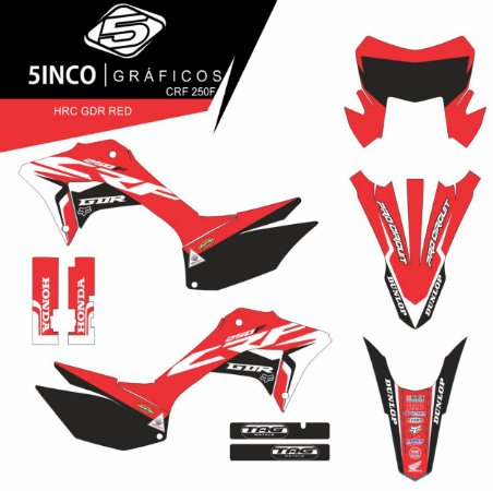 Kit adesivo 3M HRC GDR RED CRF 250F 2019