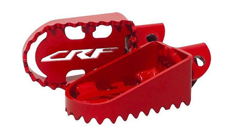Pedaleira De Aço Lift Vermelha - Crf 230 - Motocros Trilha
