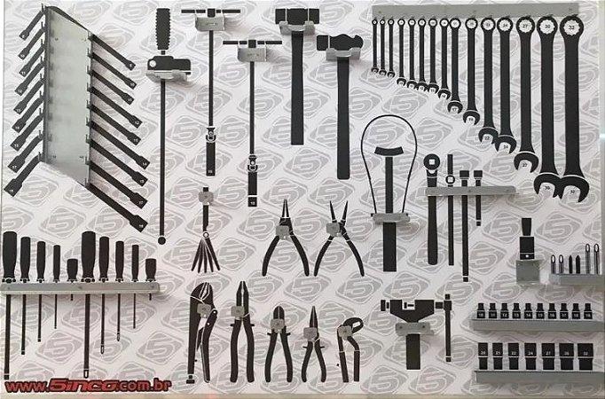 Kit Suportes Para Painel De Ferramentas Com 23 Unidades