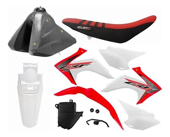 Kit Plástico CRF 230 F 2015 a 2020 - Protork Original Adaptável XR 200